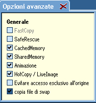 HDClone: Opzioni avanzate