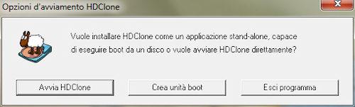 HDClone: Opzione creazione unità boot