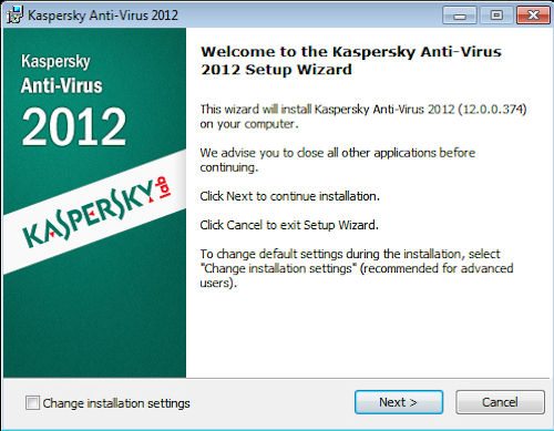 Kaspersky Anti-Virus 2012: Installazione