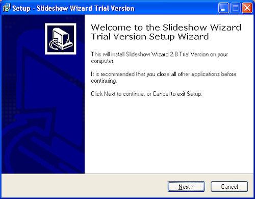 Flash Slideshow Wizard: Installazione