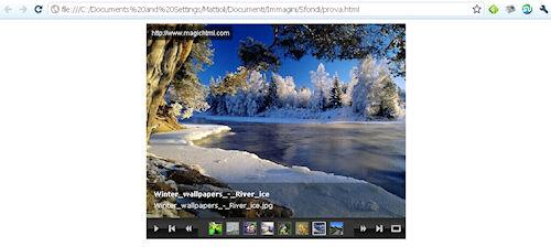 Flash Slideshow Wizard: Esempio di pagina web con presentazione integrata