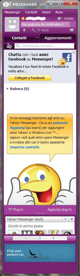 Yahoo Messsenger 2011: Interfaccia utente
