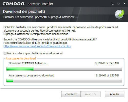 Comodo Antivirus: Installazione