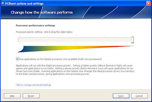 PCBoost 2011: Pannello di controllo principale