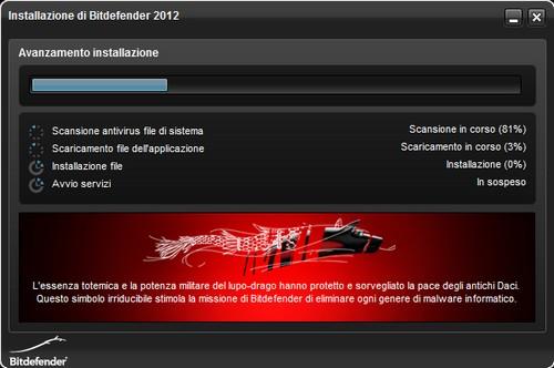BitDefender Antivirus Plus 2012: Processo di installazione