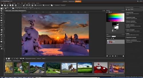 PaintShop Pro X4: Area di lavoro Modifica