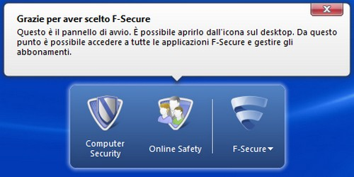 F-Secure Internet Security 2012: Launch Pad