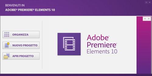 Adobe Premiere Elements 10: Pannello iniziale di gestione attività