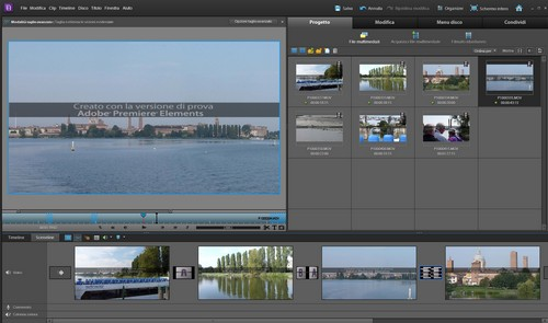 Adobe Premiere Elements 10: Layout interfaccia utente