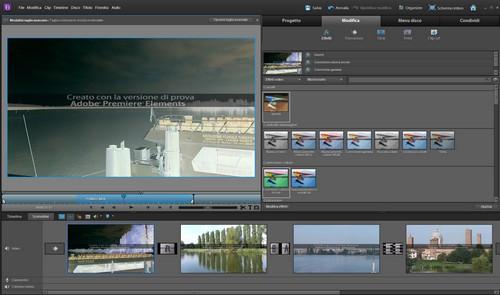 Adobe Premiere Elements 10: Sezione Modifica con esempi di effetti