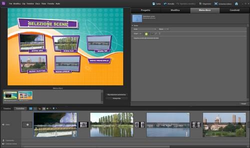 Adobe Premiere Elements 10: Esempio di utilizzo del Menu Disco