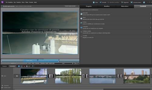 Adobe Premiere Elements 10: Sezione di conversione e condivisione dei progetti