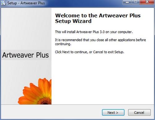Installazione Artweaver Plus