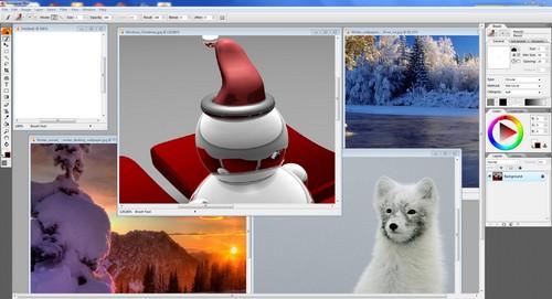 Artweaver: Esempio di finestra principale con più immagini aperte