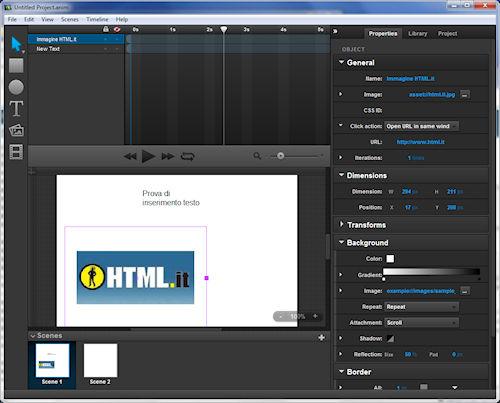 Sencha Animator: Interfaccia utente