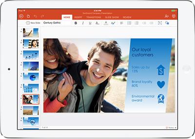 Excel per iPad