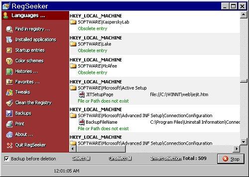 Interfaccia Advanced WindowsCare