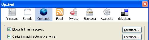 Blocco pop-up su Firefox