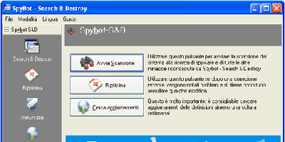 Prima visuale di Spybot
