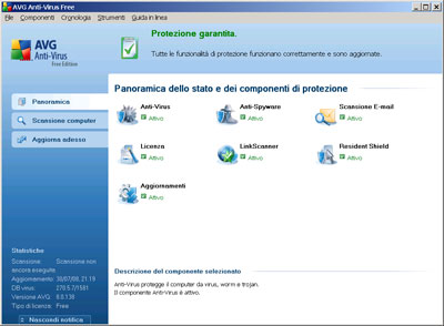 Interfaccia utente AVG
