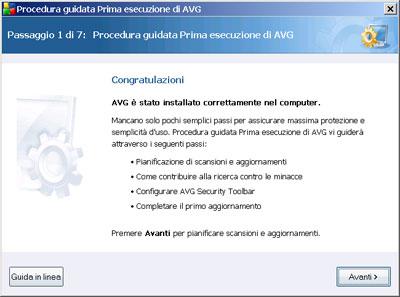 Procedura guidata AVG