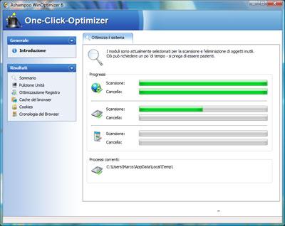 Funzione One-Click-Optimizer