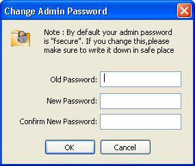 Cambio password amministrazione