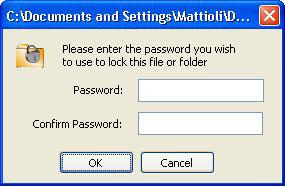 Password blocco file o cartella