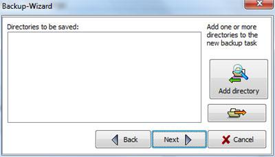 Personal Backup: Scelta destinazione salvataggio dati