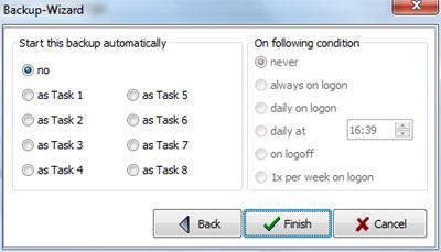 Personal Backup: Avvio automatico del task di backup