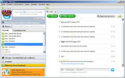 Interfaccia utente Skype 5