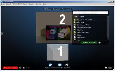 Attivazione videoconferenza fra tre contatti