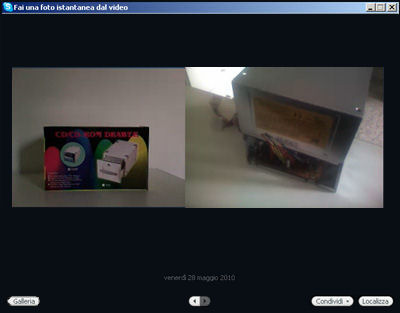 Videoconferenza senza il proprio riquadro video