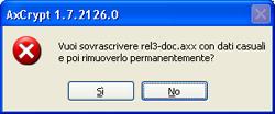 Conferma cancellazione file - AxCrypt