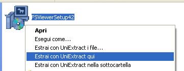 Esempio di estrazione componenti da un file setup