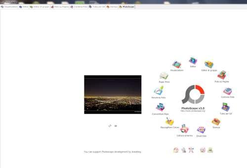 Photoscape - Interfaccia
