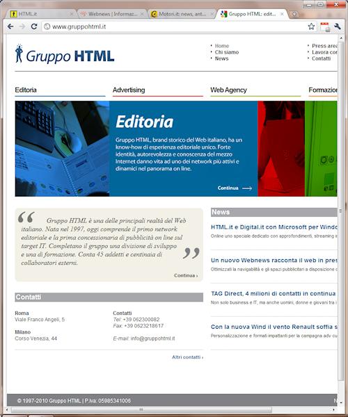 Interfaccia di Google Chrome