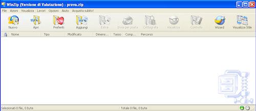 Interfaccia utente WinZip