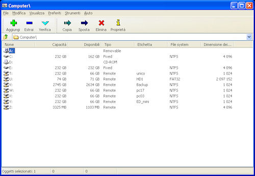 Interfaccia utente 7-Zip