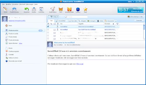 Interfaccia utente Incredimail