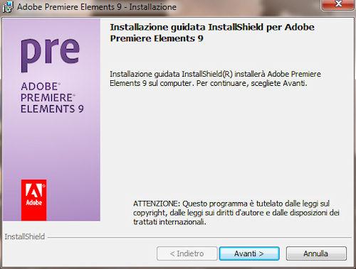 Adobe Premiere Elements 9: Installazione