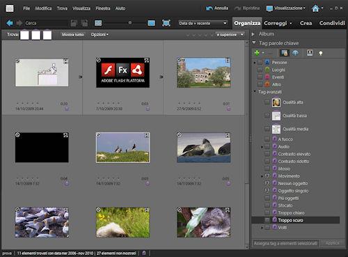 Adobe Premiere Elements 9: esempio di applicazione tag