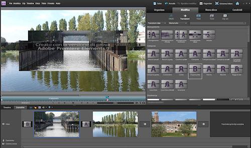 Adobe Premiere Elements 9: esempi di transizione tra le clip
