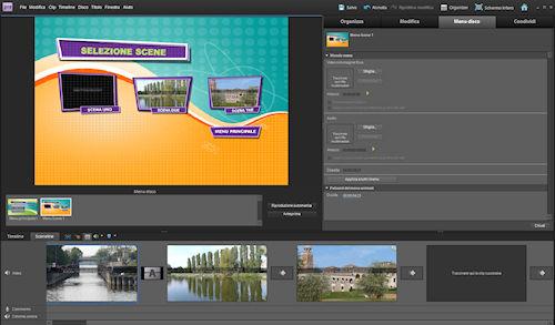 Adobe Premiere Elements 9: esempio di creazione menù disco