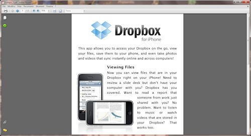 123 PDF to Image: Esempio di PDF da convertire