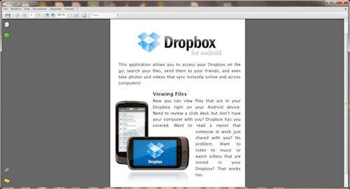 Interfaccia utente: Documento PDF finale