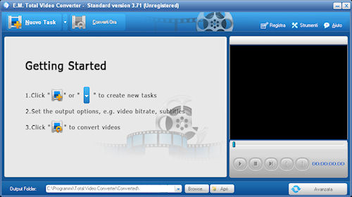 Total Video Converter: Interfaccia utente