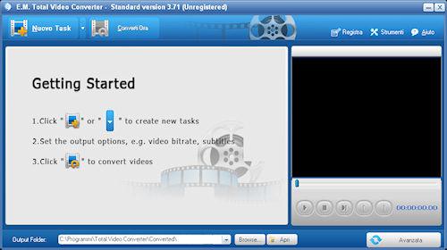 Total Video Converter: Interfaccia utente