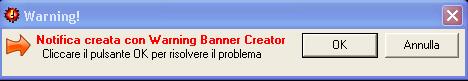 Warning Banner Creator: Anteprima del risultato finale