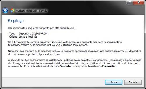 Windows 8: Riepilogo selezione dispositivo di avvio con l'immagine del sistema operativo